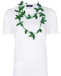 DSquared² - Necklace Applique T-shirt - Lyst