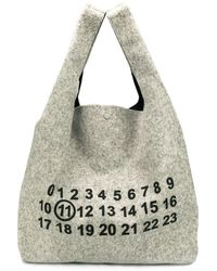 Maison Margiela Logo Tote Bag - Grey