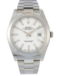 Rolex Montre Oyster Perpetual Datejust 41 mm (non portée) - Blanc