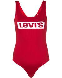 Levi's Body con logo estampado - Rojo