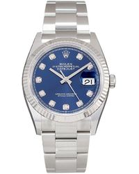 Rolex Orologio Oyster Perpetual Datejust 41mm mai indossato - Blu
