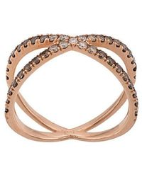 Eva Fehren - 14kt Rose Gold The Fine Shorty Diamond Ring - Lyst