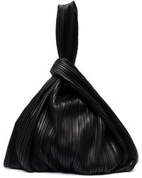 Nanushka Large Jen Top-handle Pleated Bag - Black