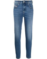 DIESEL Slandy High-waist Skinny Jeans - Blue