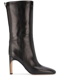 Jil Sander Block-heel Pull-on Boots - Black