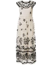 RED Valentino Embroidered Tulle Gown - White