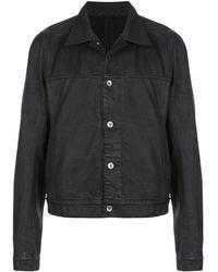 Rick Owens Drkshdw Waxed Style Denim Jacket - Black