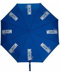 Moschino Зонт С Принтом Couture И Логотипом - Синий
