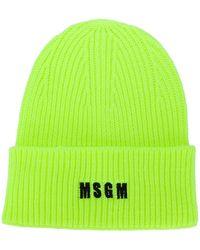 MSGM Шапка Бини С Вышитым Логотипом - Желтый