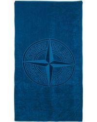 Stone Island ロゴ タオル - ブルー