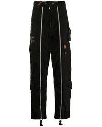 Maison Mihara Yasuhiro Pantalon ample à détails de zips - Noir