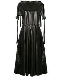 Sara Lanzi Bow-embellished Pvc Dress - Black