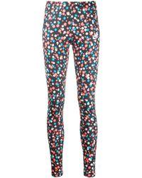 Nike Floral-print Branded leggings - Black