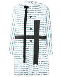 Sacai - Vector Print Cross Coat - Lyst