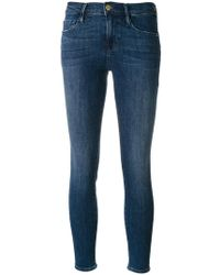 FRAME - Skinny Cropped Jeans - Lyst