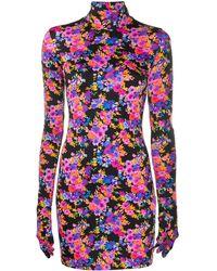 Vetements プリント ドレス - ブラック