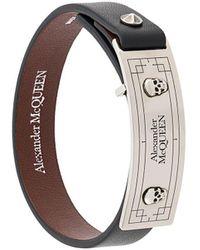 Alexander McQueen - Skull And Stud Embellished Bracelet - Lyst