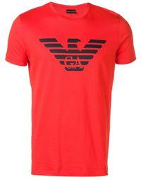 Emporio Armani ロゴ Tシャツ - オレンジ