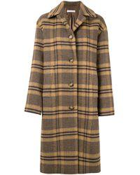 Rejina Pyo Checked Single Breasted Coat - Brown