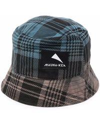 Mauna Kea Check-print Logo-patch Bucket Hat - Black