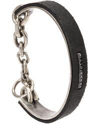 Tobias Wistisen Diamond Embellished Bracelet - Black