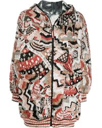 Missoni Reversible Quilted Knit Coat - Red