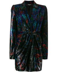 DSquared² Velvet Suit Jacket Dress - Black