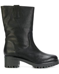 P.A.R.O.S.H. - Ridged Mid-heel Boots - Lyst