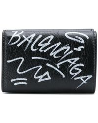 Balenciaga - Graffiti Mini Wallet - Lyst