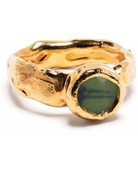 Nick Fouquet Round Textured Ring - Metallic