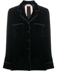 N°21 Crystal-trim Jacket - Black
