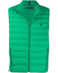 Polo Ralph Lauren Logo Embroidered Quilted Gilet - Green