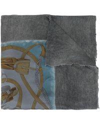 Avant Toi Faded Effect Scarf - Grey