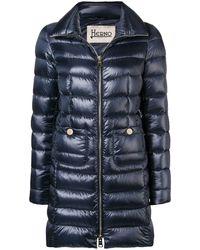 Herno Iconico Padded Coat - Blue