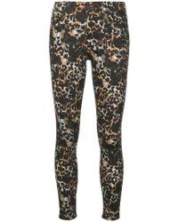 AG Jeans - Farrah Leopard Skinny Ankle Jeans - Lyst