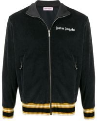 Palm Angels Chenille Track Jacket - Black