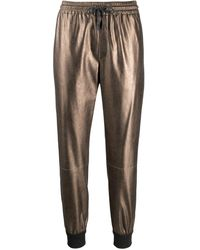 Brunello Cucinelli Metallic Drawstring Track Trousers