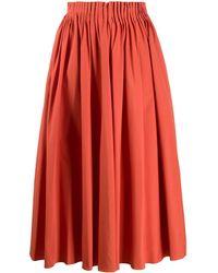 Marni Pleated Midi Skirt - Orange