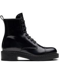 Prada ブロックヒール ブーツ - ブラック