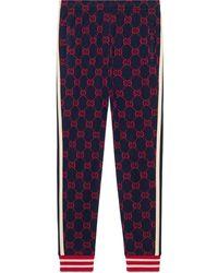 Gucci GG Jacquard jogging Pants - Blue