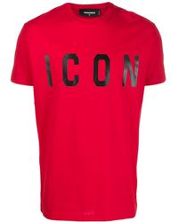 DSquared² T-shirt Icon - Rouge