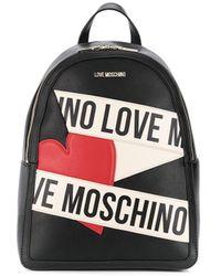 Love Moschino Rugzak Met Hartlogo - Zwart