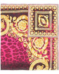 Versace Printed Neck Scarf - Pink