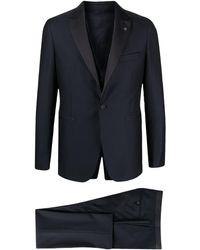 Tagliatore シングルスーツ - ブルー