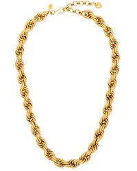 Brinker & Eliza Spiral Staircase Gold-plated Necklace - Metallic