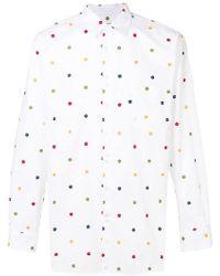 Comme des Garçons - Floral Embroidered Shirt - Lyst