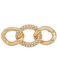 Dior 1970s Pre-owned Interlocked Links Brooch - Metallic