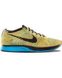 Nike Flyknit Racer Trainers - Yellow