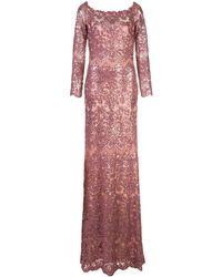 Tadashi Shoji Eve スパンコール ドレス - ピンク
