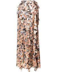 Diane von Furstenberg Floral Print Skirt - Brown